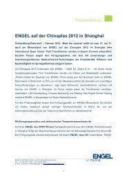 ENGEL auf der Chinaplas 2012 in Shanghai - Engel Austria