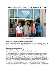 2011 REU Program Summary - SRI International