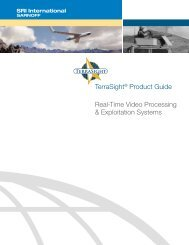 TerraSight® Product Guide Real-Time Video ... - SRI International