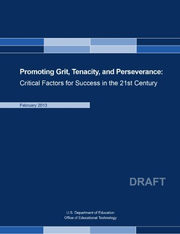 Promoting Grit, Tenacity, and Perseverance - U.S. Department of ...