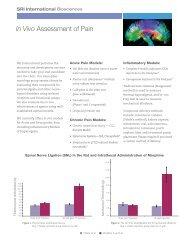 In Vivo Assessment of Pain - SRI International