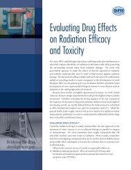 Evaluating Drug Effects on Radiation Efficacy and ... - SRI International