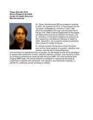 Curriculum Vitae - SRI International