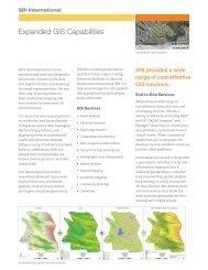 Expanded GIS Capabilities - SRI International