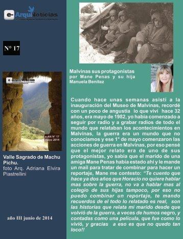 e-An N° 17 nota N° 7 Malvinas sus protagonistas por Mane Penas y su hija Manuela Benitez
