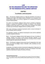 Law no. 14/1992 - Serviciul Român de Informaţii