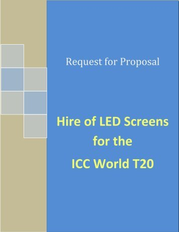 Request For Proposal – Hire of LED SCREENs - Sri Lanka Cricket