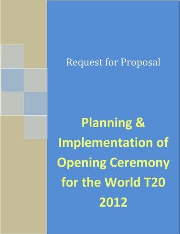 Planning & Implementation of Opening ... - Sri Lanka Cricket