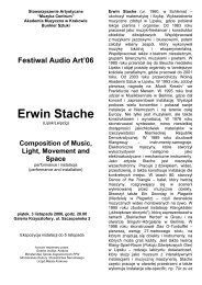 Composition of Music, Light, Movement and Space - Audio Art Festival