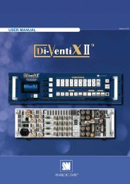 Analog Way Di-Ventix 2 Manual - Event Projection