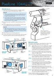 PixelLine 1044 Manual - PixelRange
