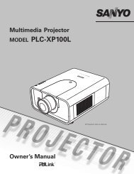 Sanyo XP100 - Event Projection