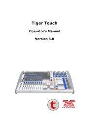 Tiger Touch Titan Manual - Avolites