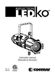 Coemar LEDko Full Spectrum Manual - Event Projection