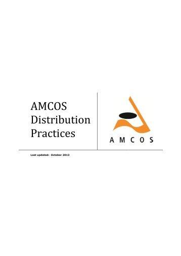 AMCOS Distribution Practices (pdf) - APRA