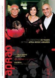 CeLeBRATING 25 YEARS Of THe APRA MUSIC AWARDS
