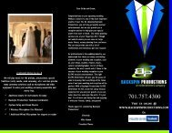 Wedding Package Information - Backspin Productions