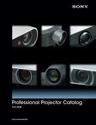 Professional Projector Catalog