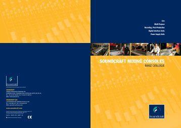 Soundcraft Audio Products Catalog