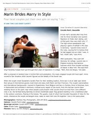 Marin Brides Marry in Style - Here Comes the Guide