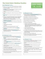 The Guide Bride's Wedding Checklist - Here Comes the Guide