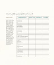 Your Wedding-Budget Worksheet - Real Simple