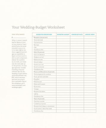 Printables Real Simple Budget Worksheet indian wedding budget worksheet marigold events your real simple