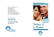 Blauer Ratgeber - Testen Sie Ihr Risiko