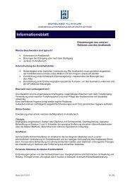 Informationsblatt - Hufeland Klinikum GmbH