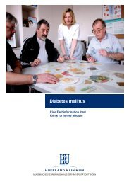 Diabetes mellitus - Nr. e010 - Hufeland Klinikum GmbH