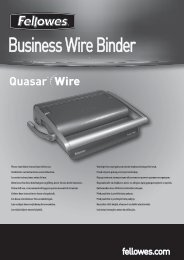 Quasar Wire Manual - Fellowes