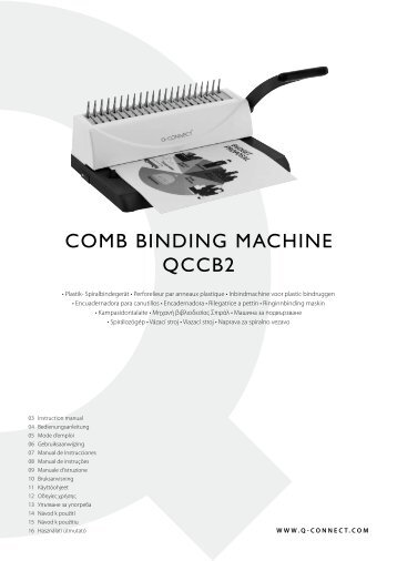 COMB BINDING MACHINE QCCB2 - Plesio