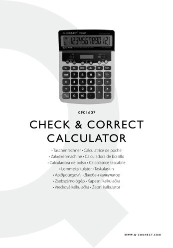 CHECK & CORRECT CalCulaTOR - Plesio