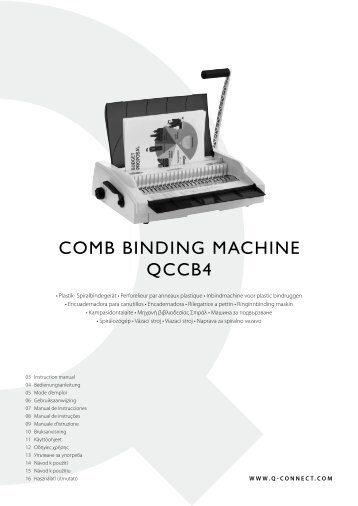 COMB BINDING MACHINE QCCB4 - Plesio