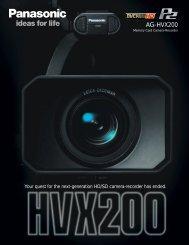 AG-HVX200 - Cravan.com.ar