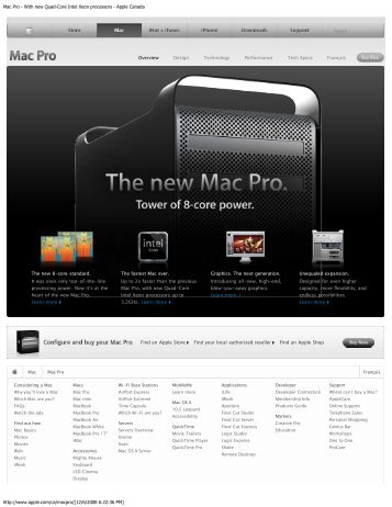Mac Pro - With new Quad-Core Intel Xeon processors - Apple Canada