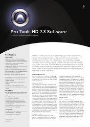 Pro Tools HD 7.3 Software