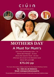 MOTHERS DAY - Slieve Russell Hotel