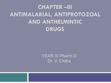 Antimalarials