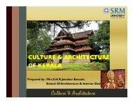 Culture & Architecture - SRM University