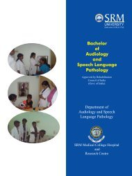Bachelor of Audiology and Speech Language ... - SRM University