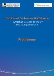 Programme - Society for Research on Nicotine and Tobacco