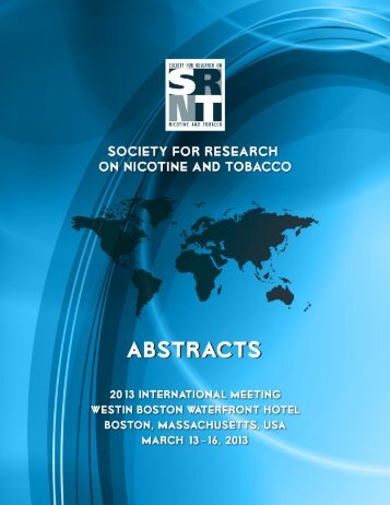 Abstract Book - Society for Research on Nicotine and Tobacco
