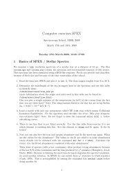 Computer exercises SPEX - SRON