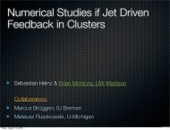 Numerical Studies if Jet Driven Feedback in Clusters - SRON