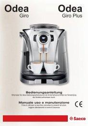 Bedienungsanleitung Manuale uso e manutenzione