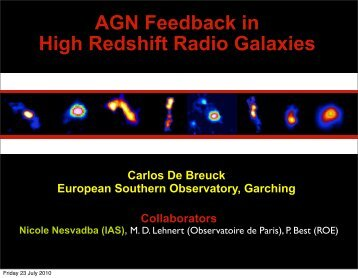 AGN Feedback in High Redshift Radio Galaxies - SRON