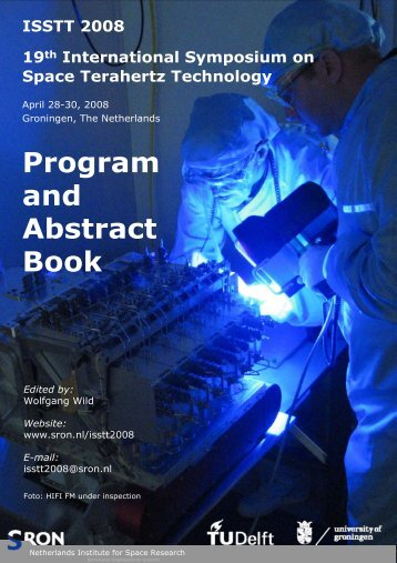 Program and Abstract Book - SRON