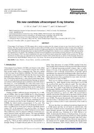 Six new candidate ultracompact X-ray binaries