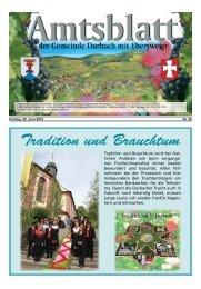 Tradition und Brauchtum - Durbach